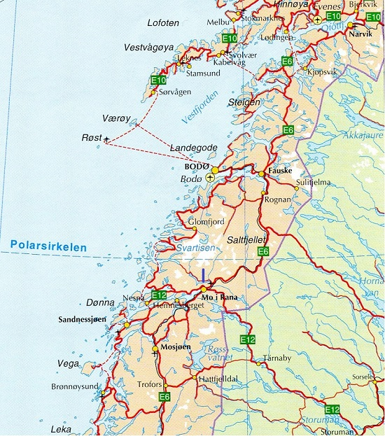 Maps Of Ancestral Homes - Norway map detailed