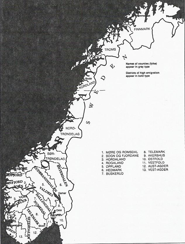 Farms In Norway - Norway map districts