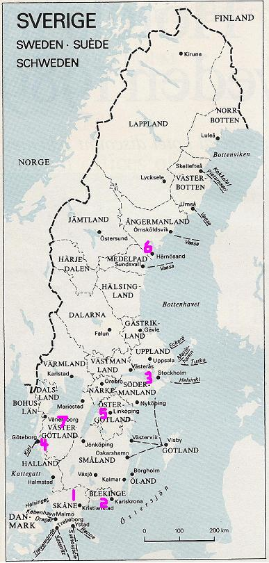 Maps Of Ancestral Homes - Sweden map län